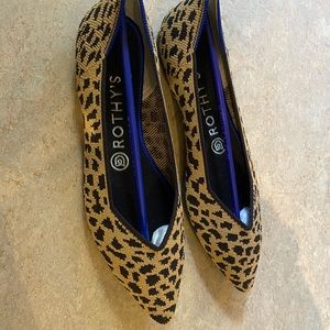 Rothy's The Point Leopard Print Size 7.5